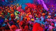 Holi Festival.  Festa que comemora a chegada da primavera na India.