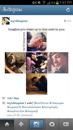 ♥. I like how Harry's staring at me while I sleep. That's so sweet!