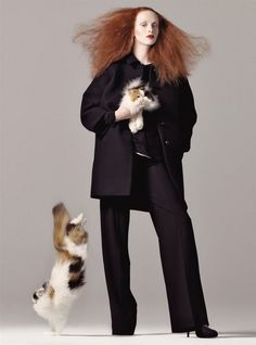 Karen Elson photographed by Steven Meisel and styled by Grace Coddington #cat #models #maxmodels