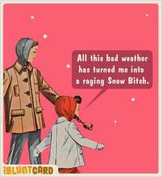 So that's why I hate winter...