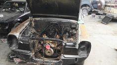 Desarmado y retiro de motor y  caja de cambios
