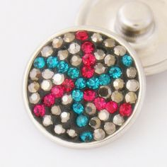 Kaleidoscope Swarovski Crystals Button Bead Noosa Snap On Charm Chunk – Your Charmed Story