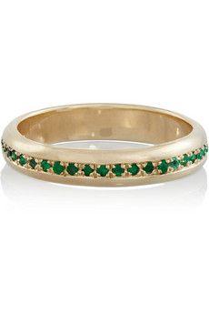 SCOSHA 10-karat gold emerald ring | NET-A-PORTER