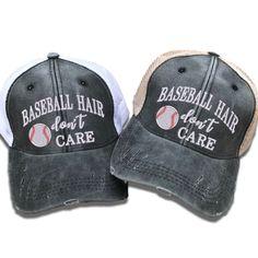 50d4fb5a7bb Baseball Hair Don t Care Trucker Hat