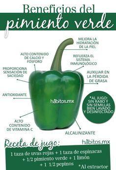 Beneficios del pimiento verde #habitosmx #hábitos #salud #health #juicing #green