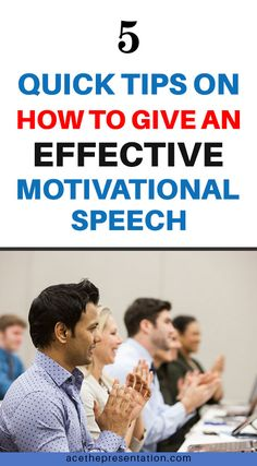 Do you know that a Motivational Speech truly has the power to rally people and really bring about a surge of energy and willingness to do better and BE better? If you want to become a motivational speaker, or simply try your best to inspire someone in your life, please check out the 5 quick tips on how to motivate and inspire others to change.  #motivationalspeech #motivationalspeechtips #inspiringspeech #effectivespeech