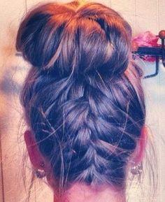 Bun and braids!