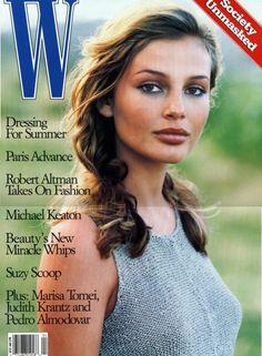 W Magazine April 1994 Model:Bridget Hall Photographer:Martin Brading