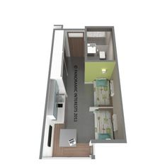 San Francisco micro unit floor plan.