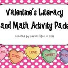Valentine's literacy and math activities