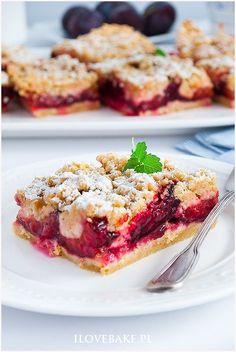 Plum Recipes, My Recipes, Cake Recipes, Snack Recipes, Dessert Recipes, Cooking Recipes, Favorite Recipes, Polish Desserts, Polish Recipes