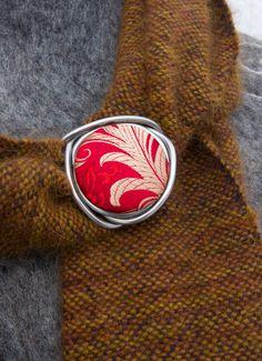 Red Silk Brocade. Silk. Loopster. von seidenhase auf Etsy