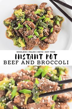 Instant Pot Beef and Broccoli - This comforting and hearty dish brings bold asian flavors that are Whole30, Paleo, Keto, Gluten Free and Soy Free. It's the perfect healthy 30 minute meal! #finishedwithsalt #instantpot #beef #whole30 #keto #lowcarb #healthy | finishedwithsalt.com