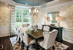 Rectangular dinding table dining room transitional with white lamps dark wood dining table