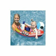 Poolmaster Transportation Baby Riders (Colors may vary) by Poolmaster. $11.98. Built-in squeaker. Police car, tug boat, airplane, and fire engine. Comfortable pocket seat with leg holes. Back support. From the Manufacturer                Since 1958, Poolmaster, a leading manufacturer of aftermarket pool and spa products, has had an unwavering commitment to quality, service and reliability. Poolmaster offers functional and recreational products across six differe...