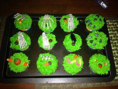 Cupcake rellenos de manzana motivó de Halloween