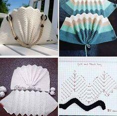au crochet un sac en écailles zig zag - La Grenouille Tricote, Crochet Clutch, Crochet Handbags, Crochet Purses, Crochet Bag Tutorials, Crochet Projects, Crochet Shell Stitch, Crochet Stitches, Crochet Baby, Knit Crochet