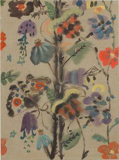 Mari Eastman, Fabric Study, 2006 / floral pattern