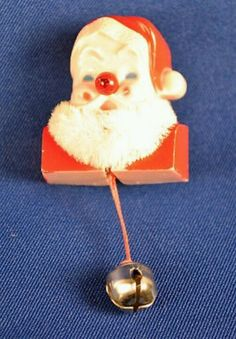 I remember these but I never had one----When you pulled the cord, his nose lit up. Actually, now it makes me think of a drunk Santa