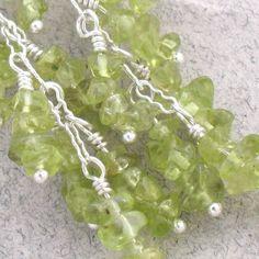 Peridot Rock Candy Sterling Silver Dangle Earrings