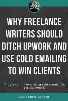 Freelance writer? Get off Upwork and Fiverr. This post will show you how to use cold emailing to win your own high-paying freelance writing clients! Check it out. :)