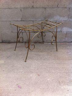 Vintage Hollywood Regency 50\'s Vanity Velvet Chair/stool | Vintage ...