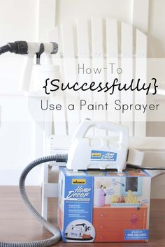 How to Successfully Use a Spray Painter #WagnerDecor [ad]