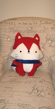 Stuffed Fox with Blue Cape