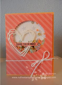 2016 JUNE Paper Pumpkin sequins used for shaker card