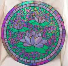 great color & lines  Lotus by Glenys Fentiman