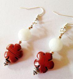 Semi Precious Red Jasper EarringsWomans by LynnsGemCreations