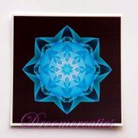 Meditatiekaart Stardust darkblue 9 x 9 cm - www.droomcreaties.nl