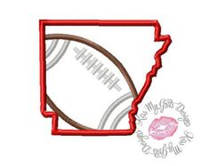 Arkansas Football  Machine Embroidery Applique Design