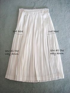upcycled skirt to dress--need very long pleated skirt
