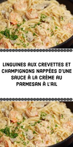 Pasta, Linguine, Parmesan, Bacon, Sauce Crémeuse, Food And Drink, Omelettes, Diners, Meat