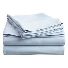 Superior 300-Thread Count Long-Staple Combed Cotton Solid Sheet Set Light Blue - CO-300XLSH SLLB