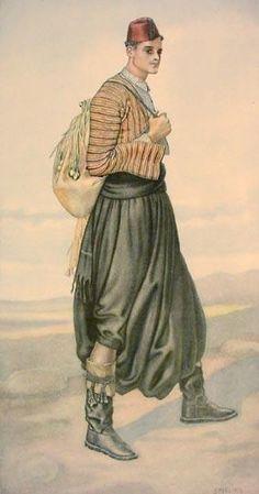 Peasant costume from Karpaci (Cyprus). Greek Traditional Dress, Traditional Fashion, Traditional Art, Ancient Greek Costumes, Greek Dancing, Greek Dress, Costume Collection, Folk Fashion, Folk Costume