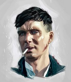 "soquidus-snake: ""Peaky Blinders - Tommy Shelby by KevinMonje on "" Peaky Blinders Poster, Peaky Blinders Wallpaper, Peaky Blinders Quotes, Peaky Blinders Tommy Shelby, Peaky Blinders Thomas, Cillian Murphy Peaky Blinders, Blind Drawing, Naive, Macho Alfa"