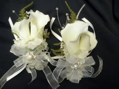 corsage for mother wedding flowers | Wedding Corsages for Mother of the Bride or Groom. REAL TOUCH Calla ...