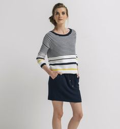 Women's Jumpers and Cardigans Jumpers For Women, Pulls, Stripes, Cotton, Fashion, Stripe Top, Women, Fashion Ideas, Loom Knit