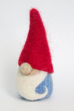 Needle felted gnome wool gnome toy wool garden gnome
