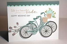 Happy Wedding Day Card by Heather Nichols for Papertrey Ink (May 2013)