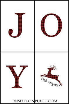 JOY Free Christmas Printables