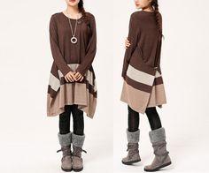 Pullover & Pullunder - Frauen Strickkleid - ein Designerstück von minyaZhou bei DaWanda