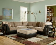 Contemporary living room with sectional couch, beautiful!
