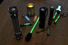 Glow in the dark flashlight mods!