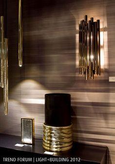 brubeck fixture stilnovo unique pipe organ brass lamp: