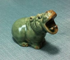 Hey, I found this really awesome Etsy listing at https://www.etsy.com/listing/156892914/miniature-ceramic-hippo-hippopotamus