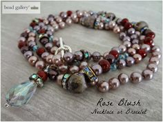 Crafting a Life in Indiana : January's Pretty Palettes :: Rose Blush Necklace/Bracelet