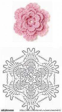 crochet aplique rosa para tapete banheiro